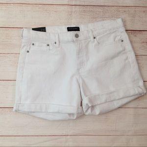 Banana Republic White Denim Short Shorts
